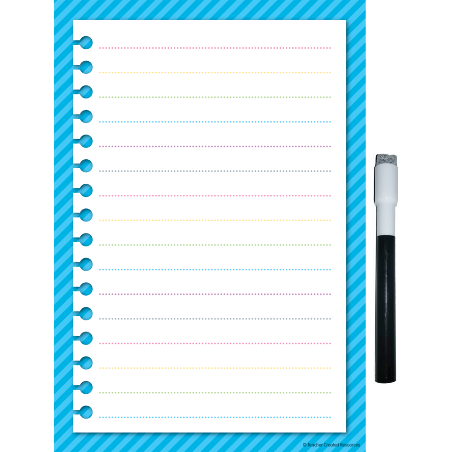 Clingy Thingies Aqua Stripes Small Note Sheet