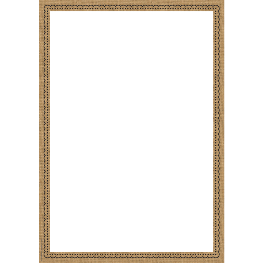Burlap Clingy Thingies̴ Large Note Sheet