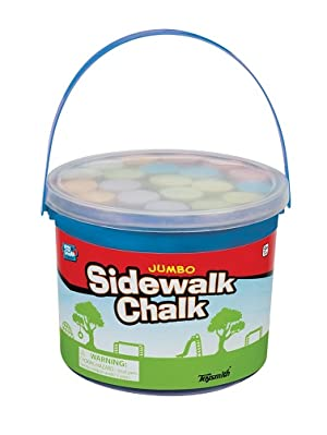 Toysmith Jumbo Sidewalk Chalk, Assorted Colors