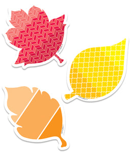"Painted Palette Fall Leaves 3"" Designer Cut-Outs"