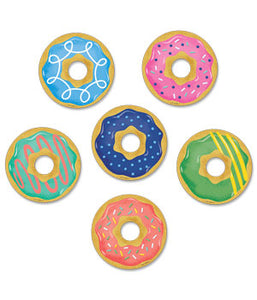 "Mid-Century Mod Donuts 3"" Designer Cut-Outs"
