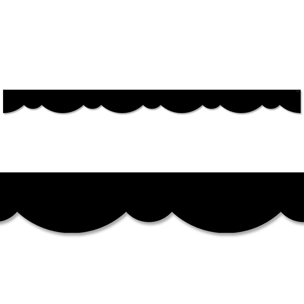 Black Stylish Scallops Border