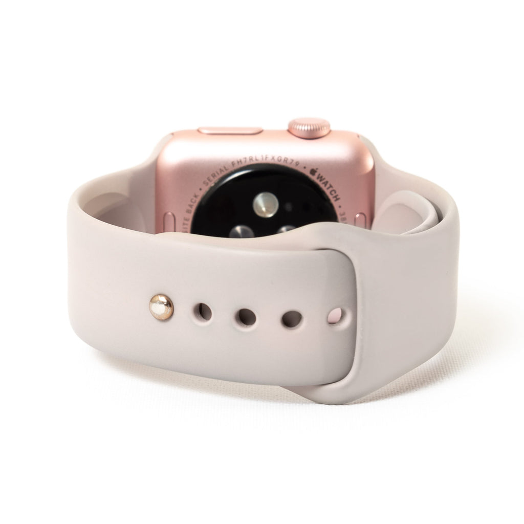 Apple Watch, Rose Gold Aluminum Case with Lavender Sport Band