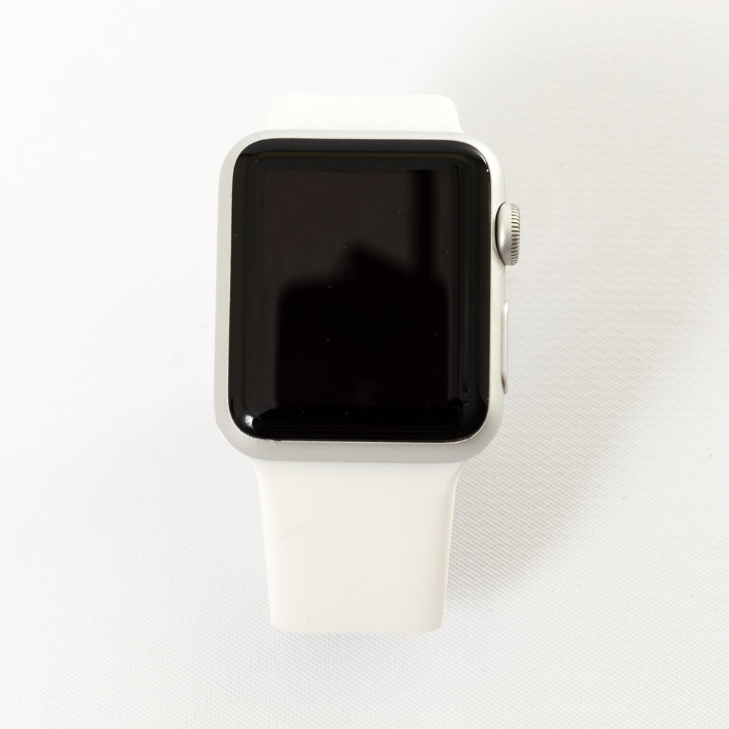 Apple Apple Watch, Silver Aluminum Case with White Sport Band - Mac-Warehouse