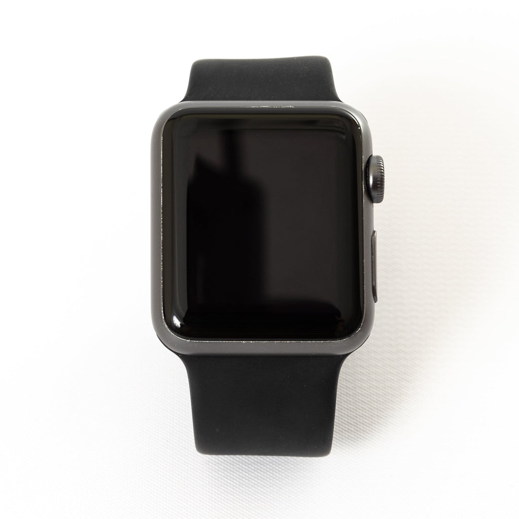 Apple Apple Watch, Series 1, 42MM Space Gray with Black Sport Band (MP032LL/A) - Mac-Warehouse