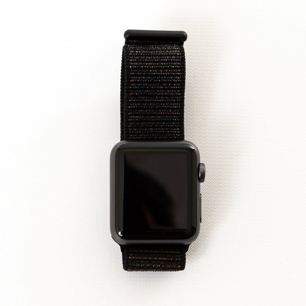 Apple Apple Watch, Space Gray Aluminum Case with Black Woven Band - Mac-Warehouse