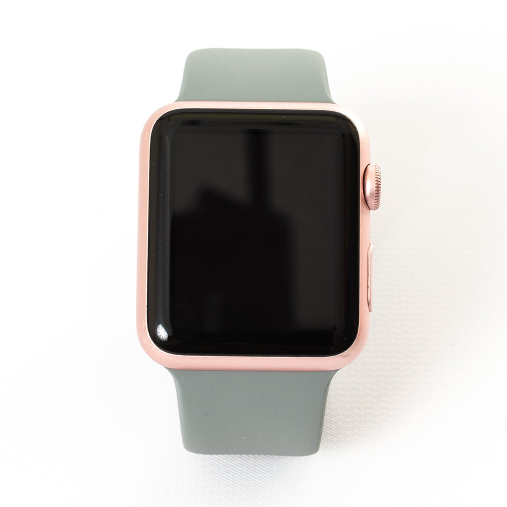 Apple Apple Watch, Rose Gold Aluminum Case with Stone Sport Band - Mac-Warehouse