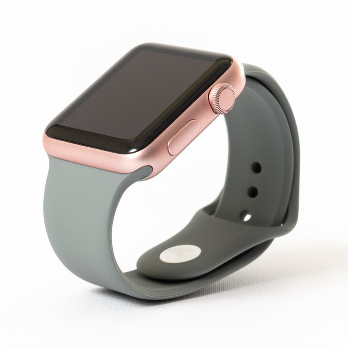 Apple Watch, Rose Gold Aluminum Case with Stone Sport Band