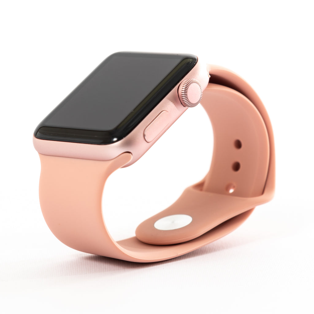 best website 0d230 fe8cc Apple Watch, Series 2, Rose Gold Aluminum Case with Pink Sand Sport Band