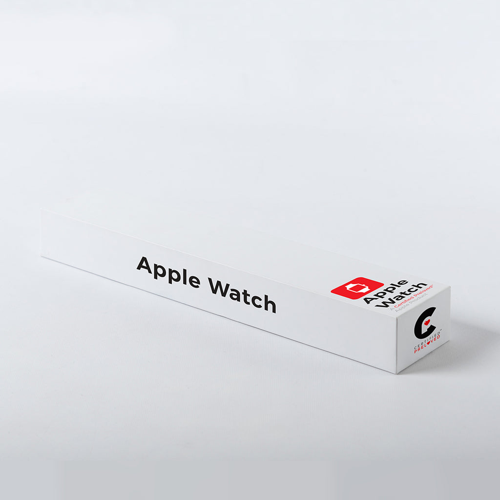Apple Watch, Series 3 Stainless Steel Case with Soft White Sport Band