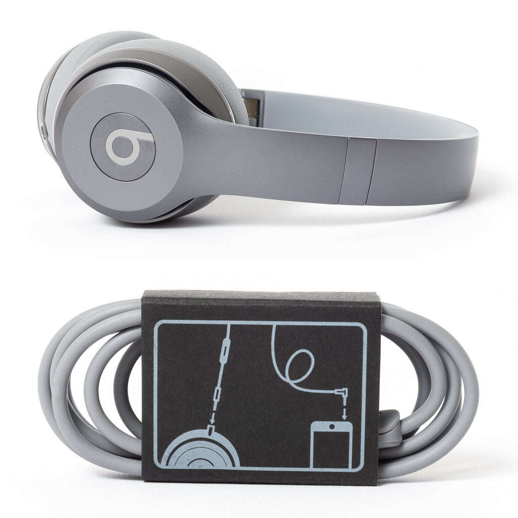 Beats by Dre Beats Solo 2 Wired (Drenched Silver) - Mac-Warehouse