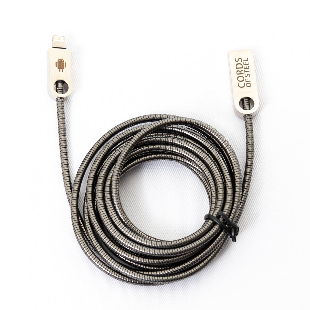 Cords of Steel Charger Cable USB to Micro USB/Lightning