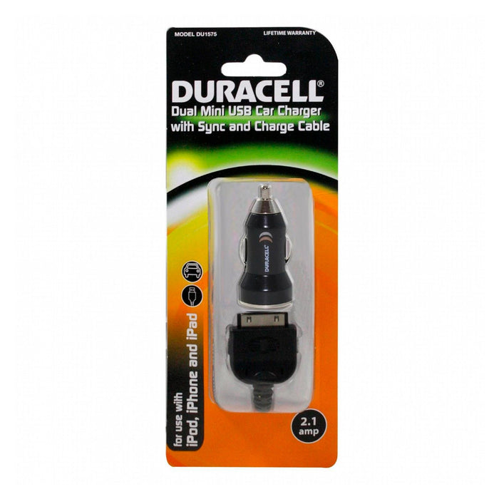 Duracell Duracell Charger Cable 30 Pin to USB (DU1575) - Mac-Warehouse