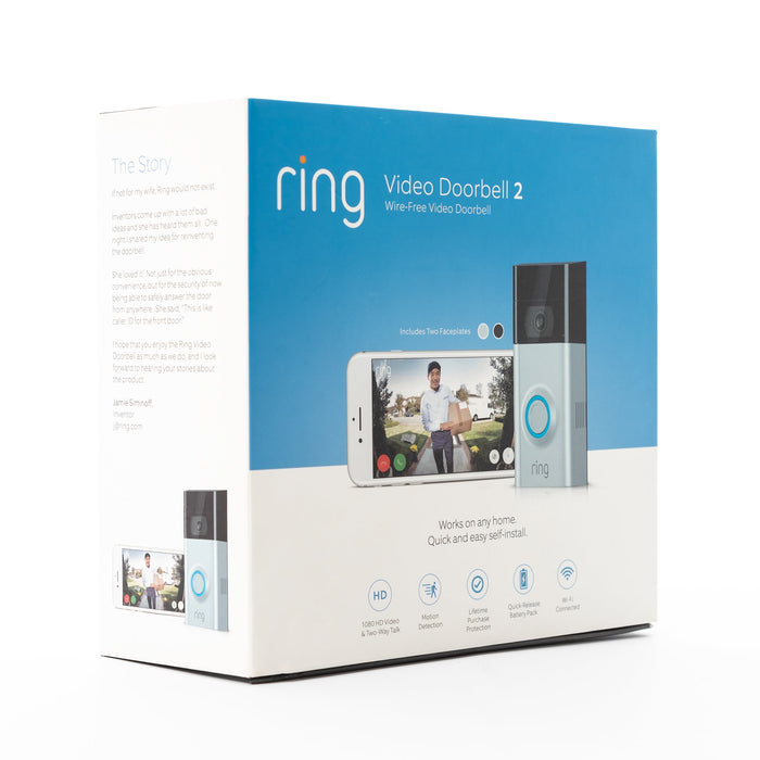 Ring Ring™ Video Doorbell 2 Refurbished (8VR1S70EN0) - Mac-Warehouse