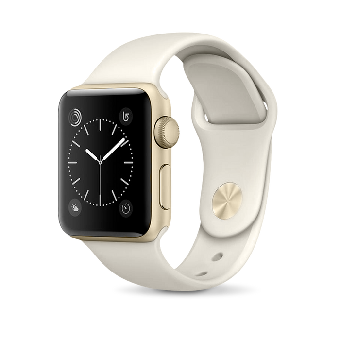 Apple Apple Watch, Gold Aluminum Case with Antique White Sport Band - Mac-Warehouse