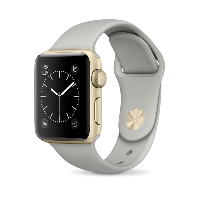 Apple Apple Watch, Gold Aluminum Case with Concrete Sport Band - Mac-Warehouse