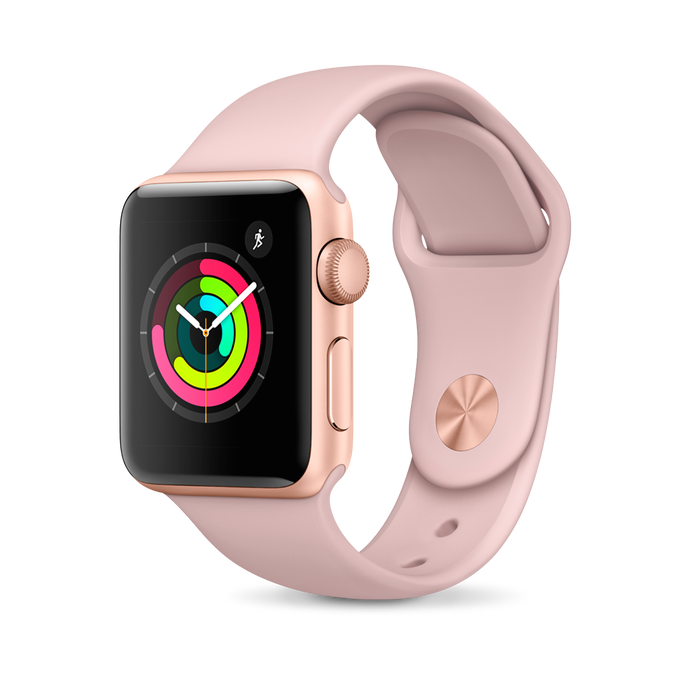 Apple Apple Watch, Rose Gold Aluminum Case with Pink Sand Sport Band - Mac-Warehouse