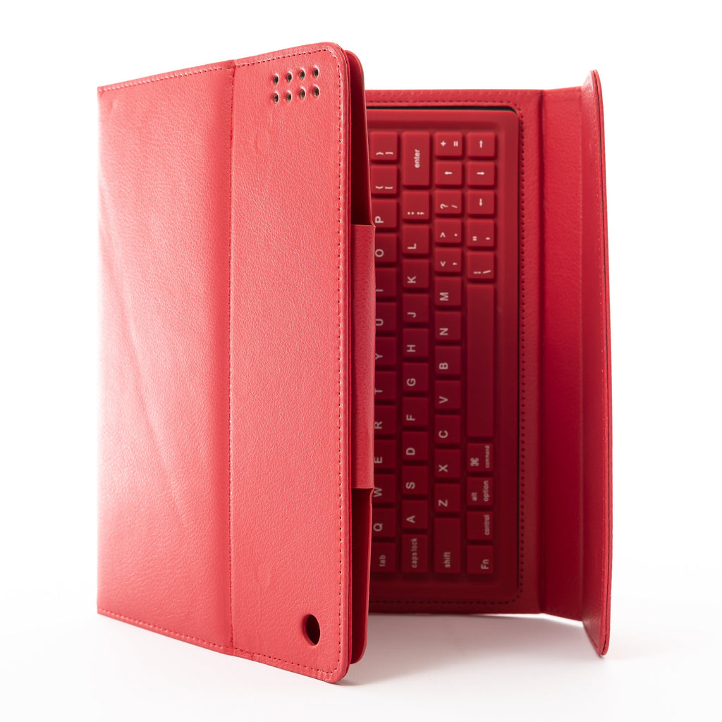 eWonder(R) eWonder(R) iPad 2/3/4 Keyboard Synthetic Leather Case (Red) - Mac-Warehouse