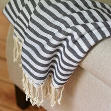 Turkish Towel - Beach House - Charcoal