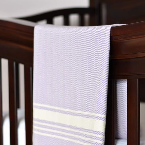 Baby Blanket - Chevron Stripe - Purple
