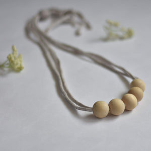 Peshh Necklace Teether, Natural Wood