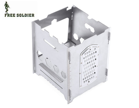 SOLDIER AI0068 Outdoor Cooking Stove Multifunctional Stainless Steel