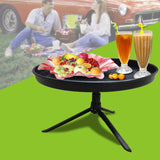 Portable ABS Food Plate Dish Outdoor Kitchen kit Tool Round Dishes Spice Clip For Picnic Camping Super Smooth Food Plate