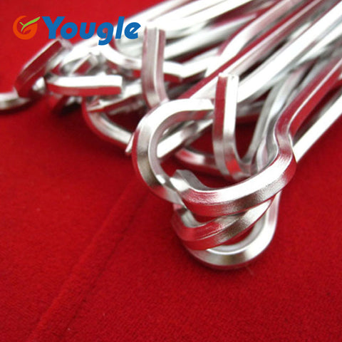 Prismatic Aluminum Tent Stake-Alloy 10 pieces