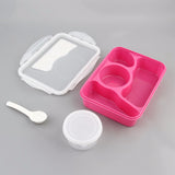 Modern Ecofriendly Portable Students Lunch Box Portable Outdoor Camping Picnic Food Container Storage Box With Spoon