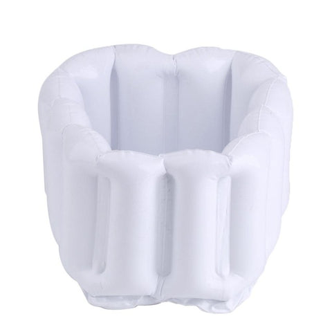 Outdoor Inflatable  Foot Feet Soak Bath Basin Foldable Bath Foot Tub