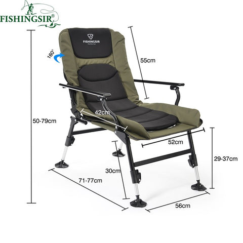 Ultimate Outdoor Adjustable Folding Breathable Chair With Adjustable Legs