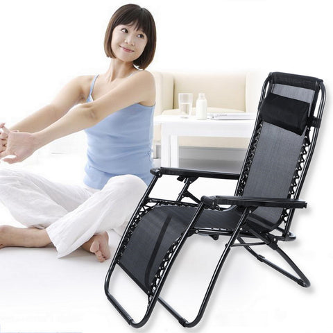 Folding Chair Adjustable Leg Breathable Mesh
