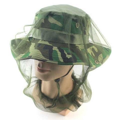 Midge Mosquito Insect Hat w/ Net Face Protector