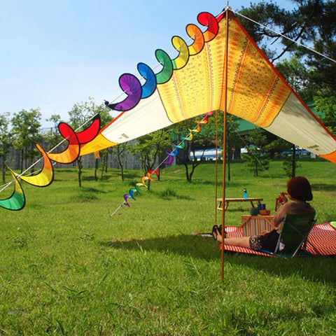 Foldable Rainbow Spiral Windmill  Spinner Tent
