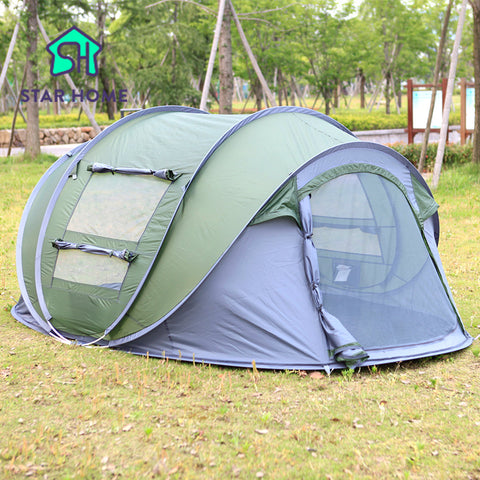 Star Home Large throw tent outdoor 3-4 persons automatic open