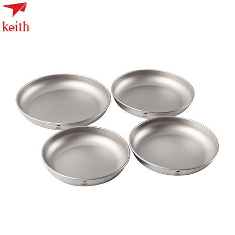 Keith Titanium 4pcs Outdoor Camping Dishes set