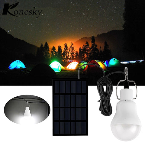 Konesky Solar LED Camping Tent Light Rechargeable Night Lamp