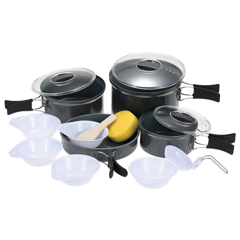 Camping Pot 4-5 Sets Picnic Cookware Tableware Sets