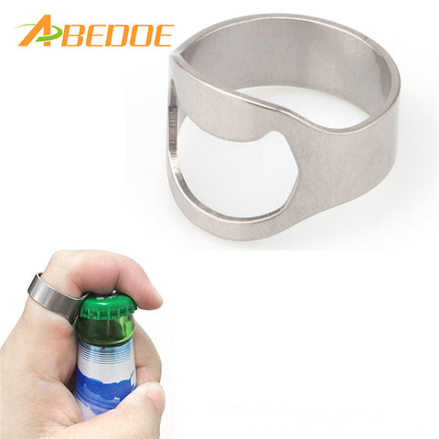 ABEDOE 1pc Silver Color Ring Bottle Opener
