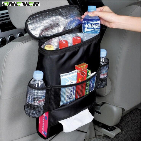 Onever Car Seat Organizer Bag Multi-function Car Hanging Storage Pouch