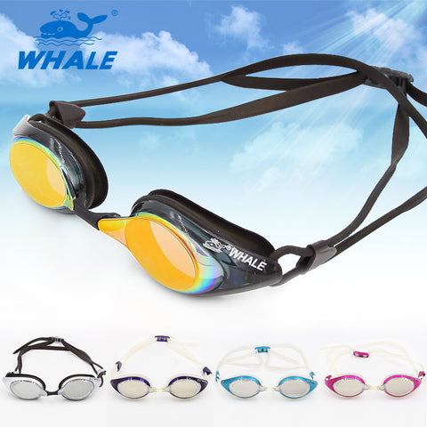 Whale Brand Racing Swim Goggles mirror for swimming Men & Women