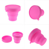 Outdoor Folding Silicone Water Bottle 8 x 8 x 2 cm