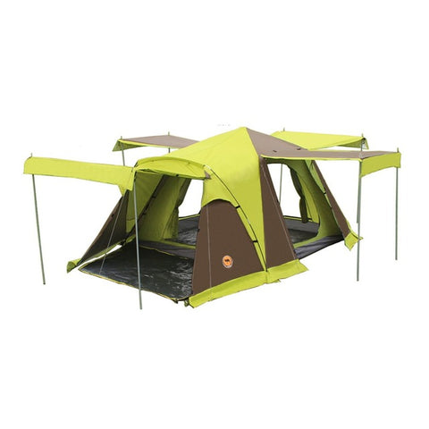 3-4 Person Portable Four Doors Square Roof Tent With Breathable Mosquito Net
