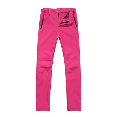 Winter Women Pants Solid Color Zipper Closure Elastic Waist Thick Soft Warm Trousers Outdoor Sports Long Pants NEW