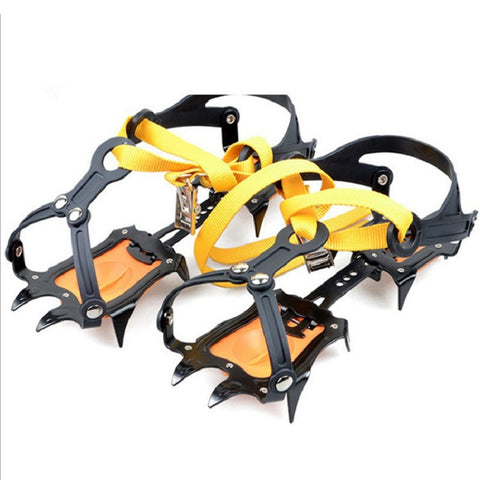 Adjustable Crampon Anti-Slip Gripper Cleats Shoes 1 Pair 10 Teeth