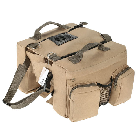 Canvas Dog Saddlebag for Medium & Large Dogs