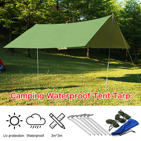 Waterproof Sun Shelter Tarp 3mx3m