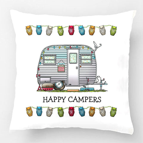Vintage Teardrop Camper Travel Trailer Pillow Case