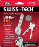 SWISS+TECH 6 In 1 Utili-Key Mini Multitool Keyring Pocket Knife Folding Knife with packaging