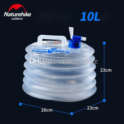 Outdoor Collapsible Water Container Carrier Bucket For Camping 10L 15L
